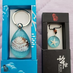 NIB Seashell in Resin Set